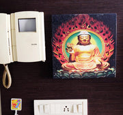 "UVP 207 12x12 & 16x16 Snoogg Art 'Lord Buddha "" Painting Print Art Work. For Home, Living Room"