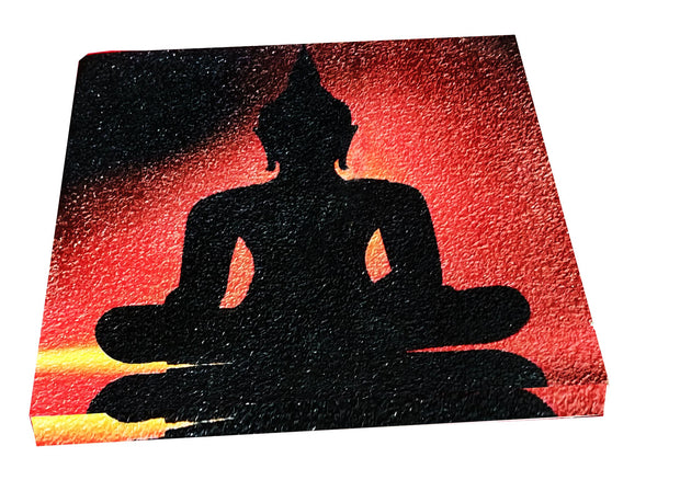 "UVP 210 12x12 & 16x16 Snoogg Art 'Lord Buddha "" Painting Print Art Work. For Home, Living Room"