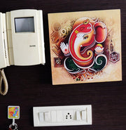 "UVP 227 12x12 & 16x16 Snoogg Art 'Lord Ganesh "" Painting Print Art Work. For Home, Living Room"