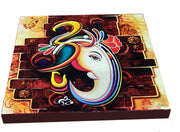 "UVP 228 12x12 & 16x16 Snoogg Art 'Lord Ganesh "" Painting Print Art Work. For Home, Living Room"