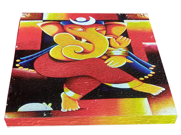"UVP 229 12x12 & 16x16 Snoogg Art 'Lord Ganesh "" Painting Print Art Work. For Home, Living Room"