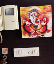 "UVP 232 12x12 & 16x16 Snoogg Art 'Lord Ganesh "" Painting Print Art Work. For Home, Living Room"