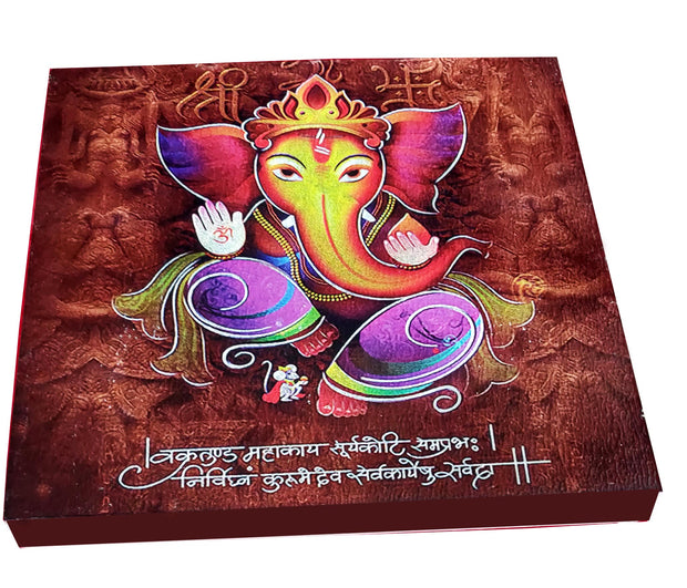 "UVP 233 12x12 & 16x16 Snoogg Art 'Lord Ganesh "" Painting Print Art Work. For Home, Living Room"