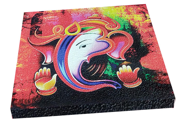 "UVP 235 12x12 & 16x16 Snoogg Art 'Lord Ganesh "" Painting Print Art Work. For Home, Living Room"