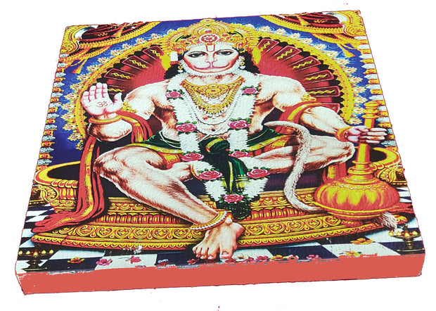 "UVP 275 12x12 & 16x16 Snoogg Art 'Lord Hanuman "" Painting Print Art Work. For Home, Living Room"