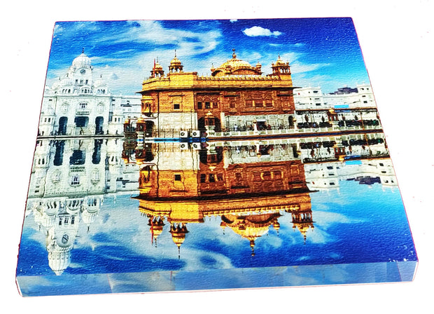 "UVP 301 12x12 & 16x16 Snoogg Art 'Golden Temple "" Painting Print Art Work. For Home, Living Room"