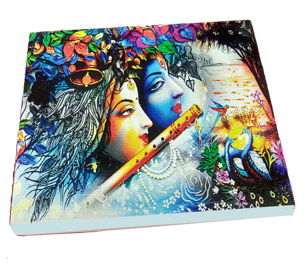"UVP 326 12x12 & 16x16 Snoogg Art ' Radha Krishna  "" Painting Print Art Work. For Home, Living Room"