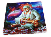 "UVP 351 12x12 & 16x16 Snoogg Art ' Shirdi Sai Baba "" Painting Print Art Work. For Home, Living Room"