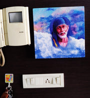 "UVP 353 12x12 & 16x16 Snoogg Art ' Shirdi Sai Baba "" Painting Print Art Work. For Home, Living Room"