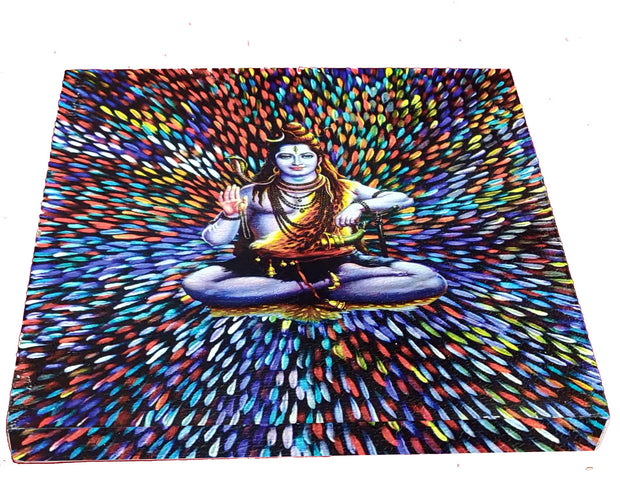 "UVP 375 12x12 & 16x16 Snoogg Art ' Lord Shiva "" Painting Print Art Work. For Home, Living Room"