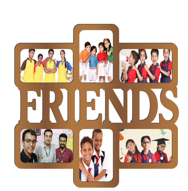 PFRM Friends Snoogg Family Picture Frame 100% Wood & Designer piece. Lasercut  Size approx. 10 Inch