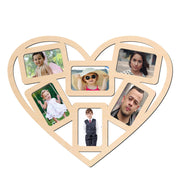 PFRM Heart Symbol  Snoogg Picture Frame 100% Wood & Designer piece. Laser cut . Size approx.10 Inch
