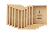 PFRM 4 x 5 Inch Mini solid wood Pine Wood picture / Photo frame both side display with flexi glass.