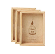 PFRM 2x3 Inch Mini solid wood Pine Wood picture / Photo frame both side display with flexi glass.