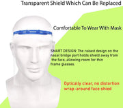 Safety Face Shield Reusable Visor  + with Extra Transparent cover in each.