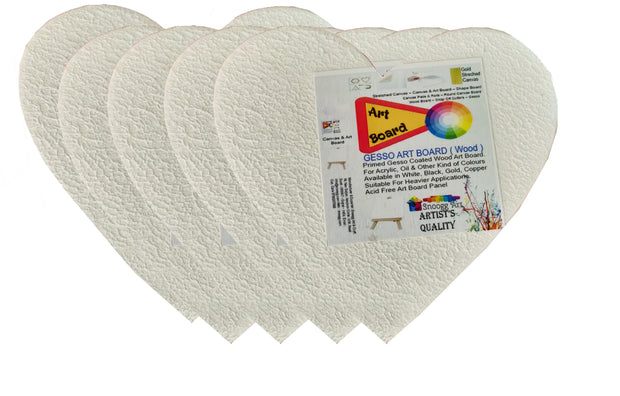 SAP-AB-Heart Snoogg Shaped Painting Art Board Wood base. Excellent for Pouring , Oil,Acrylic