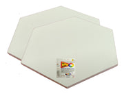 SAP-AB-Hexagon -  Snoogg Shaped Painting Art Board Wood base. Double primed Artistic Grain Finish