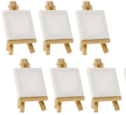 CAB-Mini 6x6 Inch With or Without Easel  - Mini Stretched Canvas Painting
