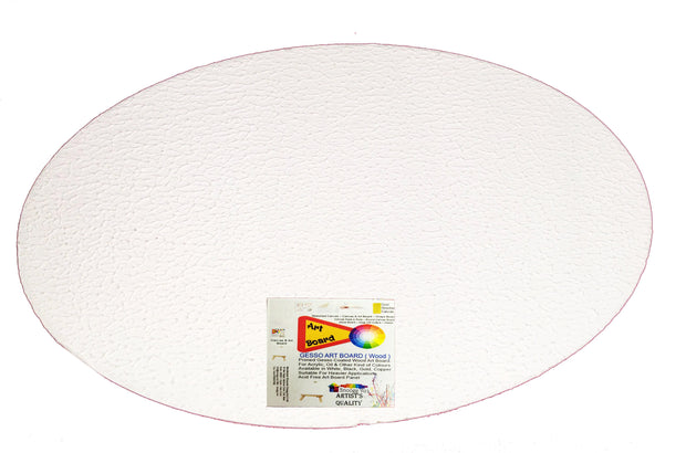SAP-AB-Oval -  Snoogg Shaped Painting Art Board Wood base. Double primedOil and Acrylic Painting.