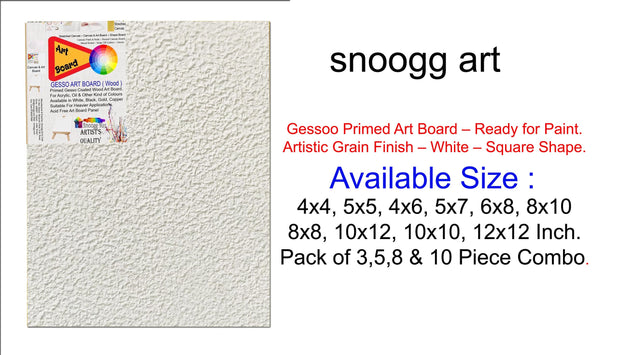 3D WAB 12x12 Inch   Snoogg Artistic grain finish Wood Art Board Triple Primed ready for Painting