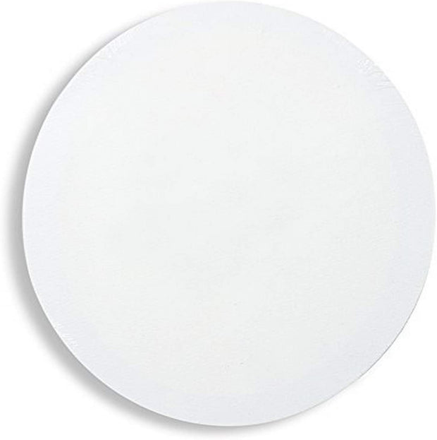 Round Shape Medium Grain stretched canvas frame  Ready to paint, acid free acrylic titanium primed,