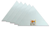 SAP-AB-Triangle -  Snoogg Shaped Painting Art Board Wood base. Double primed Artistic Grain Finish