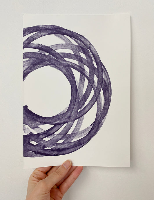 Studio shot - Fiona Grady Lemonade Press Colour Wheel (Purple) lithography edition
