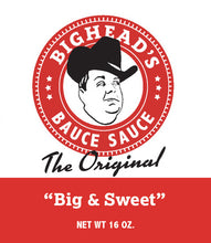 Load image into Gallery viewer, BigHead's Bauce Sauce - The Original Big & Sweet