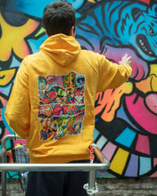 Load image into Gallery viewer, DOODLE COLLAGE Hoodie in Yellow Gold