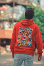 Load image into Gallery viewer, DOODLE COLLAGE Hoodie in Fire Red