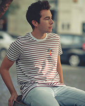 Load image into Gallery viewer, UFO Striped Tee in Burgundy