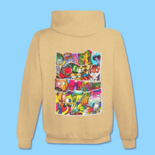Load image into Gallery viewer, DOODLE COLLAGE Hoodie in Sand Dune