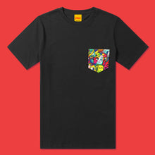 Load image into Gallery viewer, HAPPY CHAOS Pocket Tee in Black