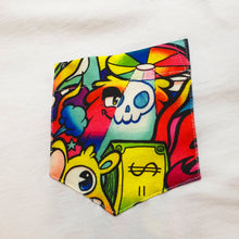 Load image into Gallery viewer, HAPPY CHAOS Pocket Tee in White