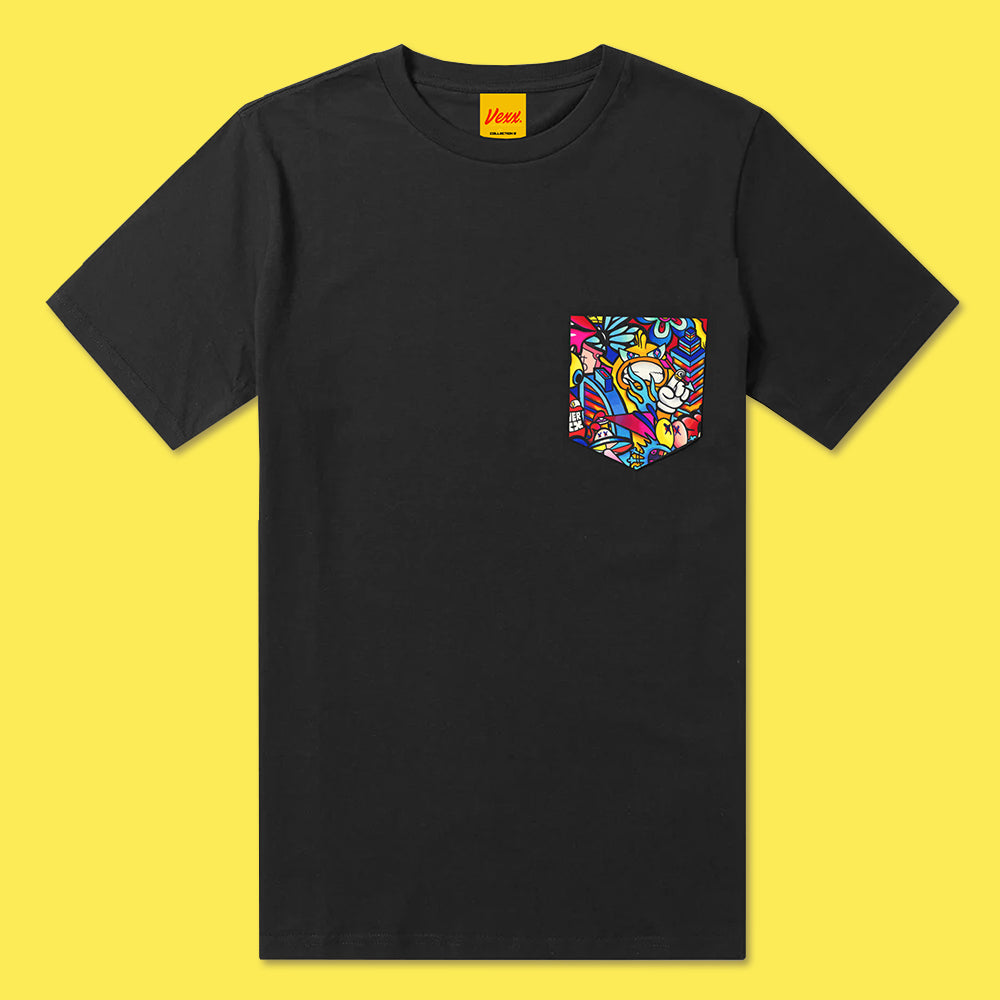 REVENGE Pocket Tee in Black