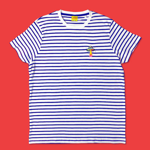 UFO Striped Tee in Navy