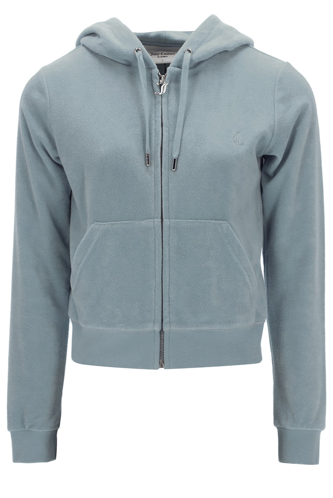 CHINOIS GREEN TERRY TOWELLING ROBERTSON HOODIE