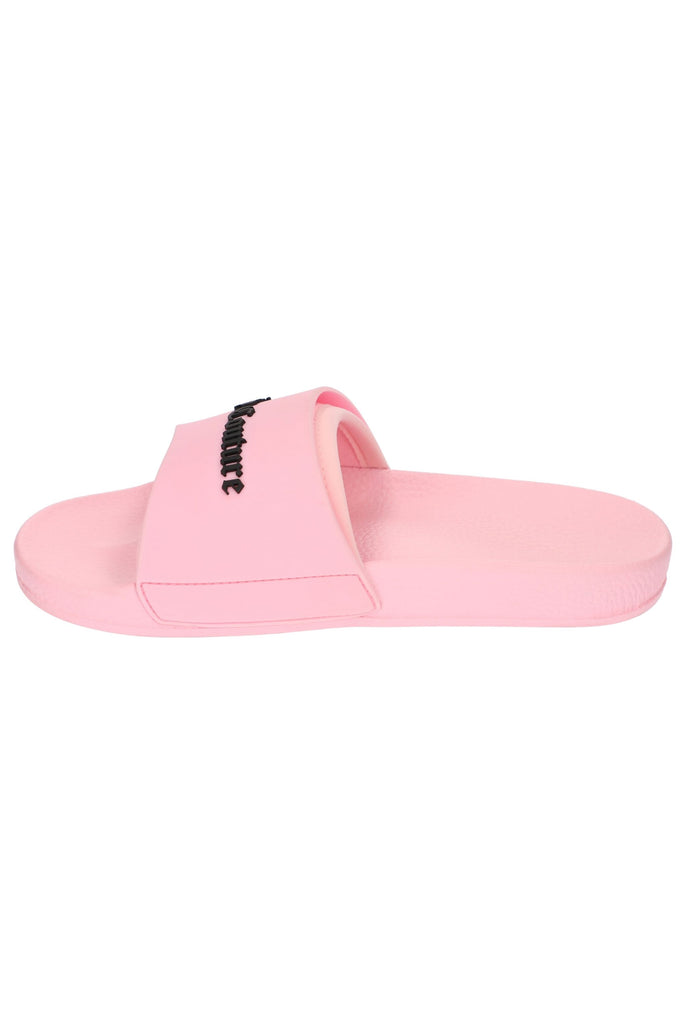 ALMOND BLOSSOM EMBOSSED JUICY COUTURE LOGO SLIDERS