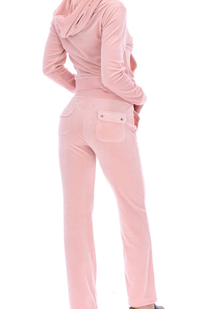 PALE PINK CLASSIC VELOUR DEL RAY POCKETED BOTTOMS