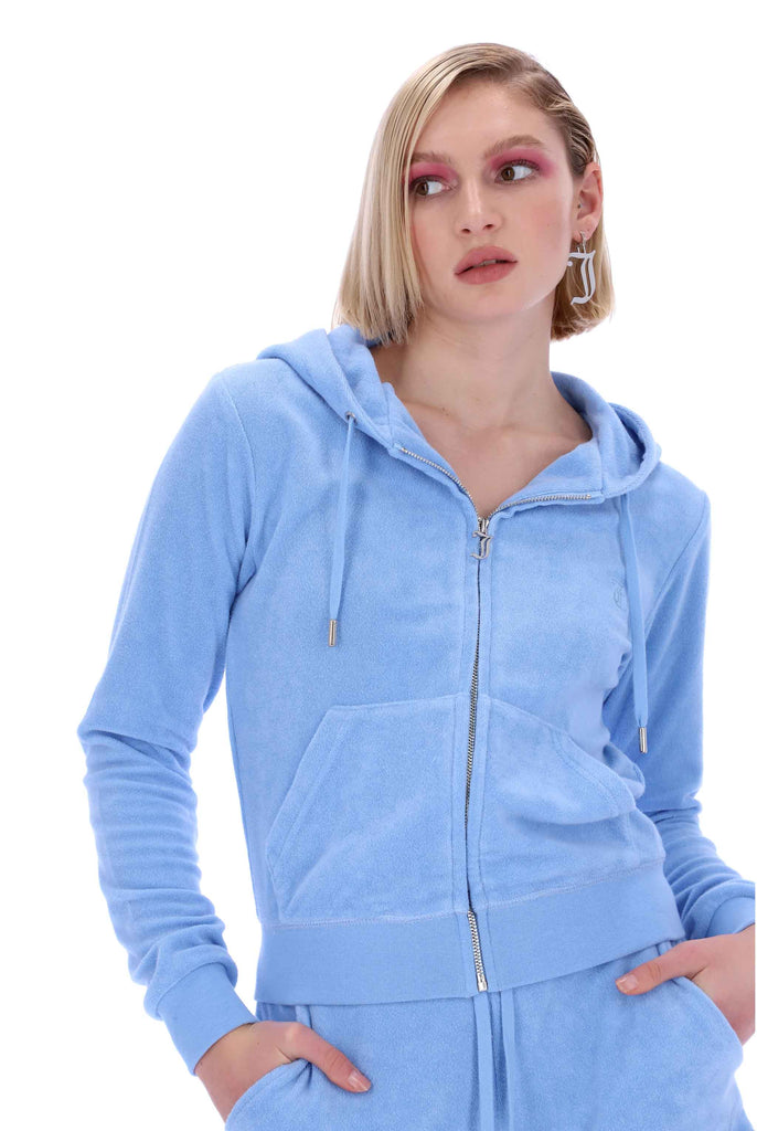 DELLA ROBIA TERRY TOWELLING ROBERTSON HOODIE