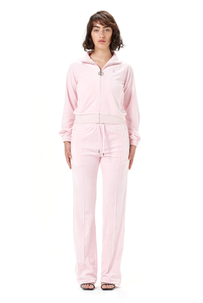ALMOND BLOSSOM VELOUR DIAMANTE TRACK TOP