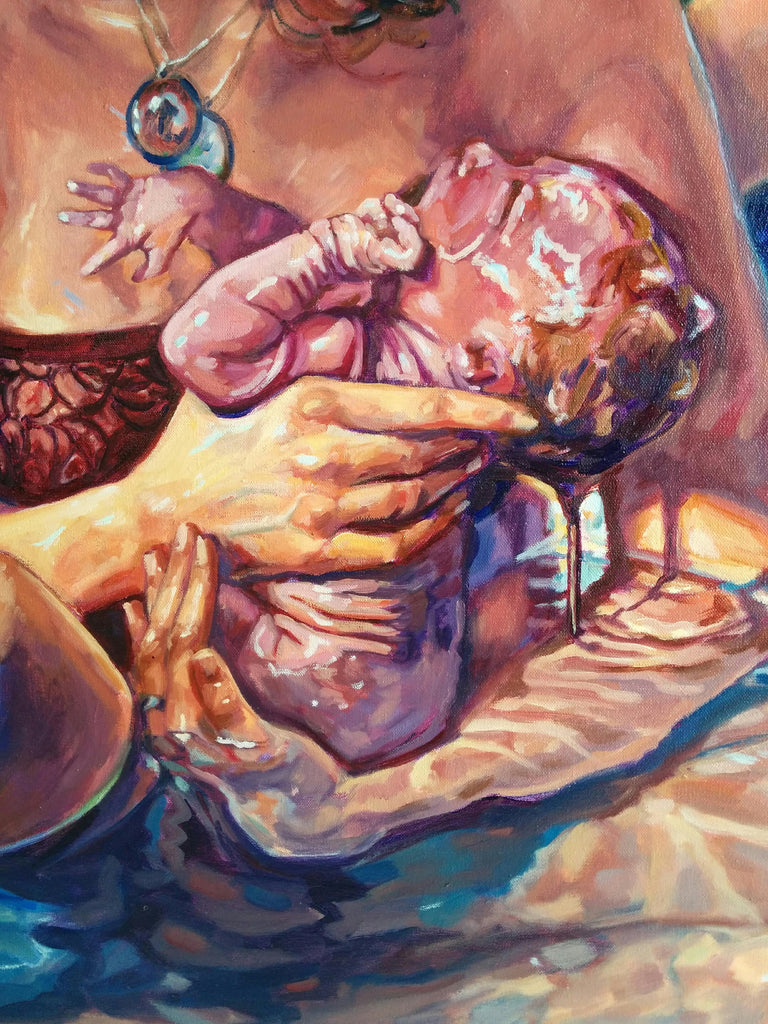 Original Oil Painting - All Creation Groans - waterbirth