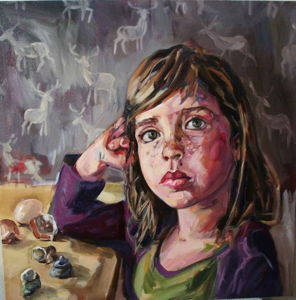 Original Oil Painting - Child/Imagination/Evangeline
