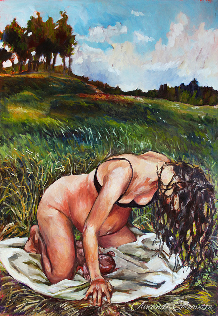 Birth Art Print - New Creation - Field Birth