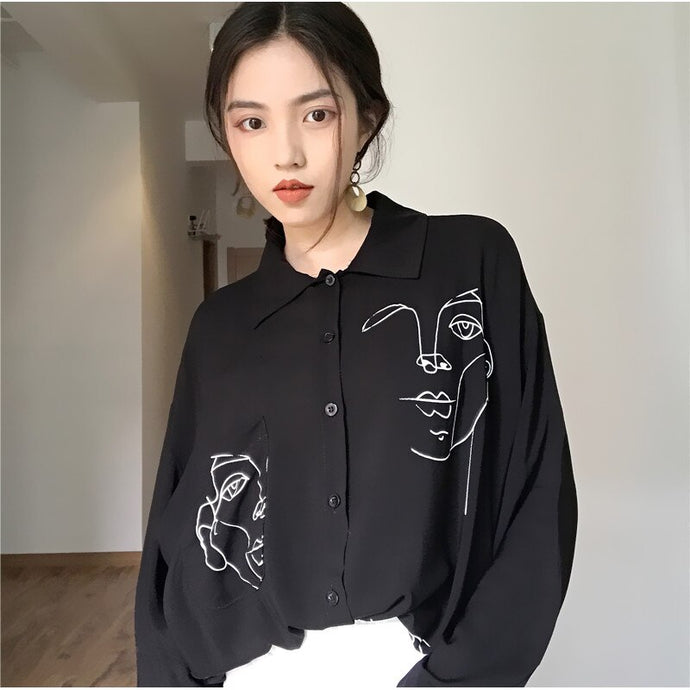 Abstract Faces Shirt