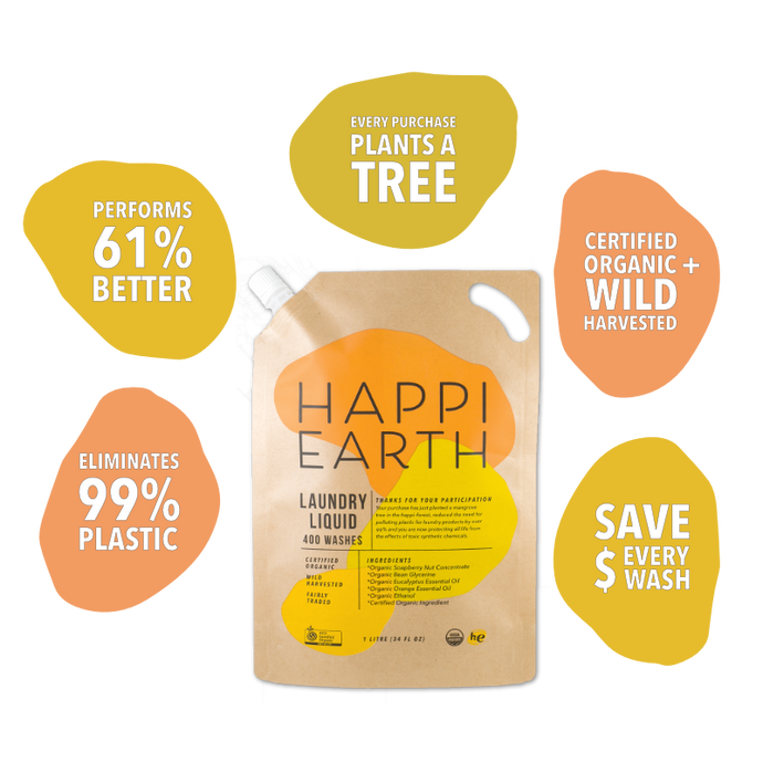 Happi Earth Laundry Liquid Review - the best eco friendly laundry cleaner on the market