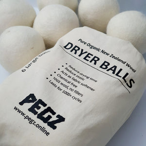 Wool Dryer Balls - 6 Pack