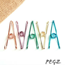 Load image into Gallery viewer, Plated Steel Colourful Pegs 30 Pack