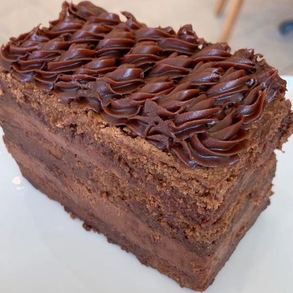 Chocolate (Flourless) Cake Slice