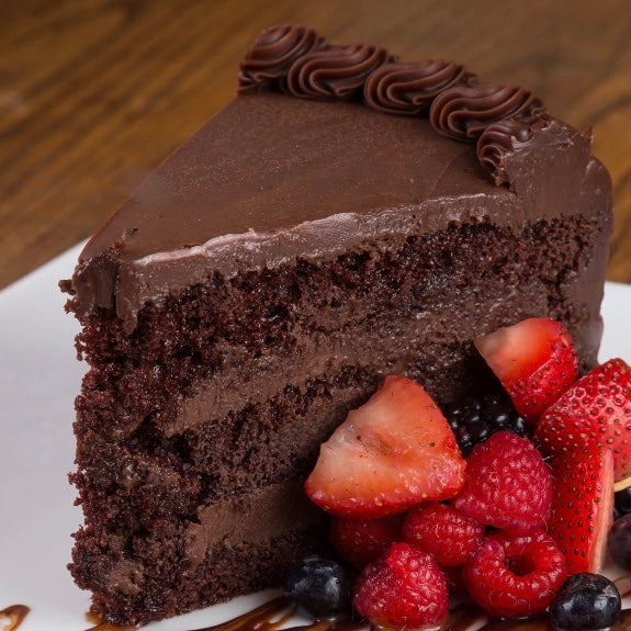 Chocolate Fudge Cake Slice